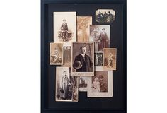 Antique Photograph Collage on OneKingsLane.com, $229    I like this, but like the idea of doing the same thing with old photos of your own family members or ancestors even more.  You could even take recent photos and use photoshop to make them look antique.