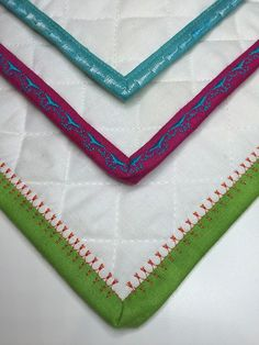 Bindings with Decorative Stitches