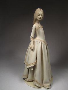 Reserved Until June 2012 OOAK Paperclay Art Doll door OOAKningyo