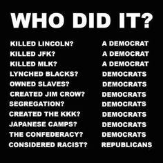 Political Topics, Political Quotes, Trump Is My President, Liberal Logic, Jim Crow, Conservative Politics, Truth Hurts, Jfk, Life Quotes