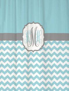 Shower Curtain Chevron Fabric You Choose by SwirledPeasDesigns