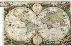 World Map - 1663 Visscher