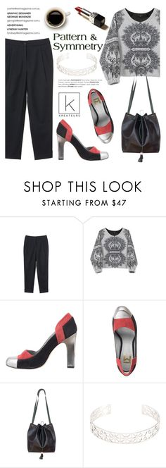 """Pattern and Symmetry"" by kreateurs ❤ liked on Polyvore featuring pattern, blackpants, greysweater and kreauters"