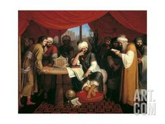 Harun Al-Rashid in His Tent with the Wise Men from the East Art Print by Gaspare Landi at Art.com