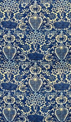 Beautiful pattern in blue and white
