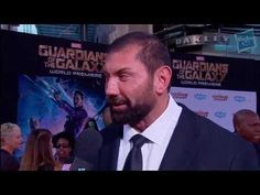 ▶ Dave Batista Talks Drax at Marvel's Guardians of the Galaxy Red Carpet Premiere - YouTube