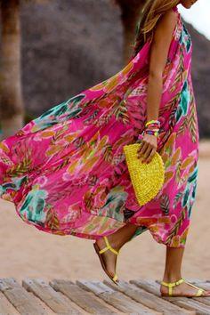 Sleeveless Floral Flare Dress