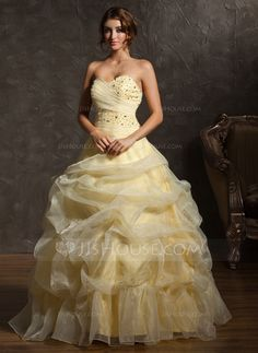 Quinceanera Dresses - $192.99 - Ball-Gown Sweetheart Floor-Length Organza Quinceanera Dress With Ruffle Beading (021002877) http://jjshouse.com/Ball-Gown-Sweetheart-Floor-Length-Organza-Quinceanera-Dress-With-Ruffle-Beading-021002877-g2877
