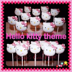 Super adorable Hello kitty themed cake pops
