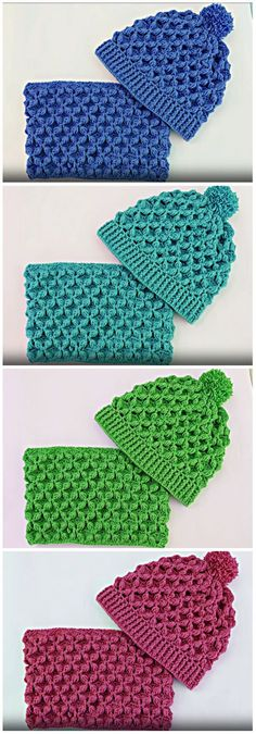 Today I teach you to make this nice set of hat and scarf. You can do the same for children, adults, teenagers.