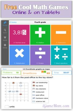 Free Cool Math Games for Kids - Online or on Tablet, aligned with school curriculum based on grade level http://480degrees.com/
