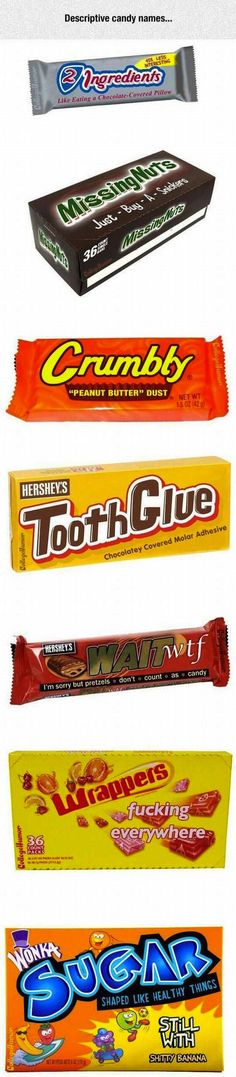 if candy was honest, honest candy bars, honest candy packaging