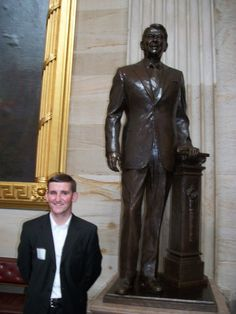Photo of me and Ronald Reagan Statue in Rotunda of US Capitol Building.  Taken during a tour of Capitol Building while in Washington DC as delegate to 2011 College Republican National Convention #WashingtonDC #College #OregonDelegate #CollegeRepublicans   #2011Convention #RonaldReagan #TheGipper #USCapitolBuilding