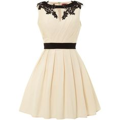 Chi Chi London Wrapped Bodice Skater Dress found on Polyvore