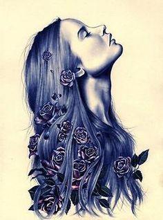 SerialThriller™ - on front shoulder, roses and raven