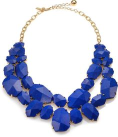 Kate Spade Quarry Gems Double-Strand Necklace in Blue (gold-blue)