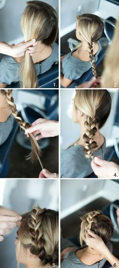 Simple Braided Crown Hairstyle Tutorial: Cute and Easy Hairstyles for Holidays Braided Crown Hairstyles Tutorial: Cute and Easy Hairstyle for the Holidays – Farbige Haare Braided Crown Hairstyles, Pretty Hairstyles, Braided Hairstyles, Easy Hairstyle, Perfect Hairstyle, Cabelo Ombre Hair, Braid Crown Tutorial, How To Crown Braid, Crown Braids