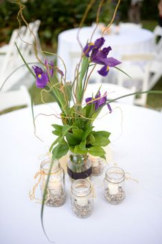 Louisiana iris centerpiece