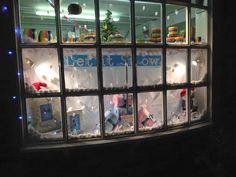 Christmas window let it snow @Kristina's Thirsk