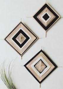 15 Modern DIY Projects for Bridal Shower Activities Diy Wall Art, Diy Art, String Wall Art, Eye Mandala, Weekend Projects, Diy Projects, Weekend Crafts, God's Eye Craft, Bridal Shower Activities