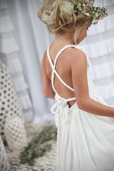 Teen Poppy Dress in off white/ ivory | Tea Princess