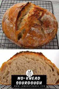 45 minutes · Serves 10 · Easy and delicious no-knead sourdough bread recipe. Bread Recipes, Vegan Recipes Easy, Yummy Recipes, Cookie Recipes, Yummy Food, Sourdough Bread, Vegan Bread, Food Words, Healthy Meal Prep