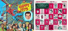 1975 Marvel Comics Calendar is the same dates as 2014