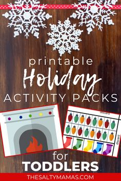 Celebrate the Holiday Season - Christmas, Hanukkah, and Kwanzaa and winter Activities- with these Explore and Learn Activity Packs. Practice Cutting, Pasting, and Coloring - Learn new lanugage, practice early academics, and engage in meaningful activities this holiday season! Motor Skills Activities, Toddler Activities, Preschool Activities, Learning Games For Preschoolers, Preschool Learning, Holiday Activities For Kids, Winter Activities, Boredom Busters For Kids, Toddler Art Projects