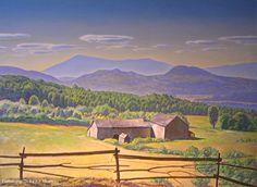"""Abandoned Farm,"" Rockwell Kent, oil on canvas, 33 x Plattsburgh State Art Museum. Rockwell Kent, Norman Rockwell, Landscape Art, Landscape Paintings, Nostalgia, Digital Museum, Paris Art, Collaborative Art, Paintings I Love"