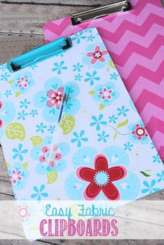 The best DIY projects & DIY ideas and tutorials: sewing, paper craft, DIY. Diy Crafts Ideas Easy Fabric Covered Clipboards by Crazy Little Projects -Read Cute Crafts, Creative Crafts, Crafts To Make, Crafts For Kids, Fabric Crafts, Sewing Crafts, Paper Crafts, Crafty Craft, Crafty Projects