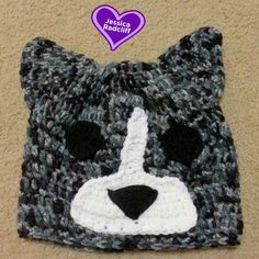 Affordable one of a kind, Crocheted Dark Blue Merle Corgi Beanie made by Jessica Radcliff at Crochet It Quick on Etsy.com  #corgi #crochet #corgibeanie #buzzfeed #crochetitquick #crocheted #handmade #dogbeanie