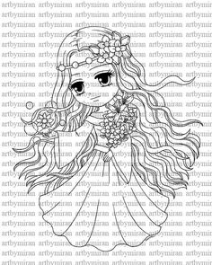 Digital StampBlossom Breeze Digi Stamp Coloring page by artbymiran, $3.00