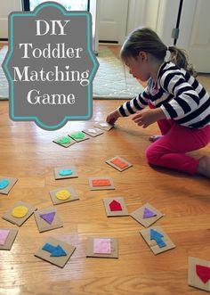 DIY toddler matching game for under $1 - all things DIY.