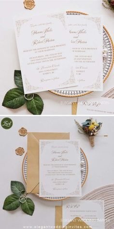 If you are looking for a touch of elegance without anything over-the-top, this invitation is the perfect choice. The details of the corner frames adds a touch of elegance.