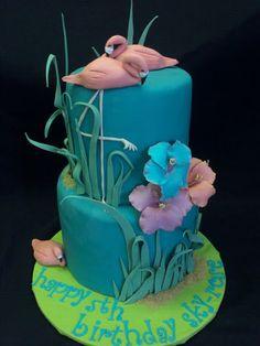 Flamingo  Cake by JoyandCake