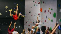 Indoor rock climbing facility that serves Redding, California with health, fitness, outdoor adventure and fun. Rock Climbing Gym, Things To Do, California, Indoor, Club, Red, Things To Make, Interior