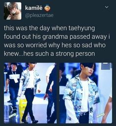 Fighting. She's in a better place watching over you Tae. Don't worry