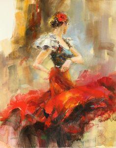 Rhapsody of Red 2 painting by Anna Razumovskaya