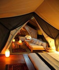 Make awesome use of attic space. Tenting inside!!
