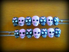 Hey, I found this really awesome Etsy listing at https://www.etsy.com/listing/112494543/skull-hair-skulls-and-hearts-haunted