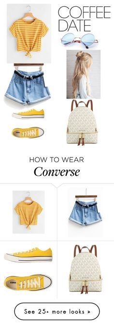 """Untitled #77"" by avelez-av on Polyvore featuring Converse, Michael Kors and CoffeeDate"