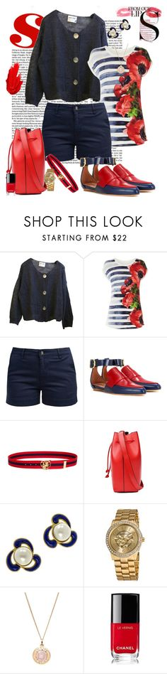 """""""Stateside Series-- Rhode Island"""" by scope-stilettos ❤ liked on Polyvore featuring Karen Millen, Barbour, Marni, Undercover, Chanel, Vernier, MAC Cosmetics and Maybelline"""