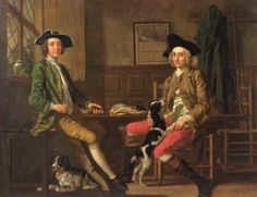 Thomas Nuthall (1715-1775) and Hambleton Custace (1715-1757) with a very small bird, c.1748, by Francis Hayman