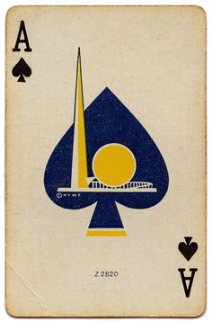 1939 New York World's Fair Playing Card Ace of Spades |