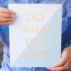 Do What You Love Print Blue by CharmAndGumption on Etsy