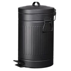Soptunna 12L svart Trash can