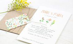 11 Diseños de invitaciones rústicas para boda increíbles! Flores para adornar tu invitación rústica