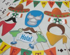 cinco de may printable photobooth props via Thinking of You Designs, etsy.