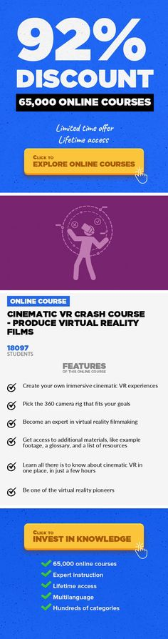 """Cinematic VR Crash Course - Produce Virtual Reality Films Media, Business  Learn How to Produce 360° (3D) Video Content Like the Pros and Become a Virtual Reality Expert """"[VR is] the next major computing platform that will come after mobile."""" -- Mark Zuckerberg, Facebook --- Are you a filmmaker who wants to learn the secrets of producing immersive video content for virtual reality headsets? The..."""