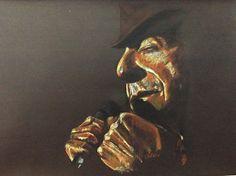 Leonard Cohen, pastel 50x70cm